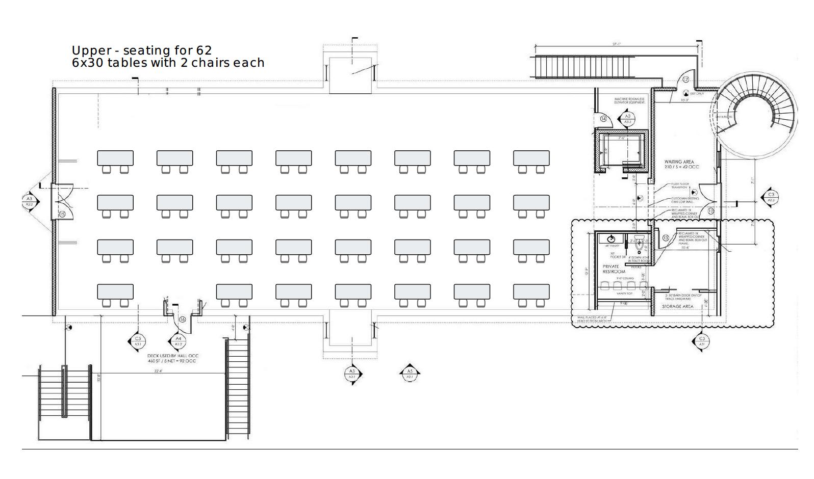 Upper hall, classroom